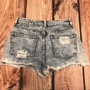 Bullhead Distressed High-waisted Mom Jean Shorts